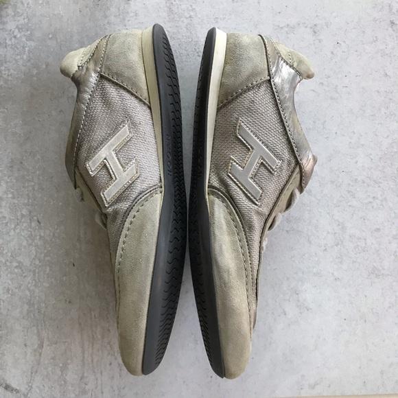 Hogan Shoes   Hogan Olympia Gray Suede Sneakers 375   Poshmark